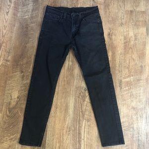 LEVI Black wash Stretch slim tapered fit jean
